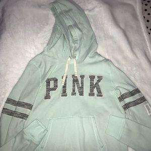 PINK mint green hoodie